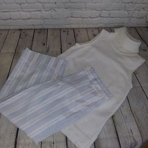 Gap Wide Leg Striped Crop pants
